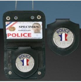 Porte Carte cuir Police