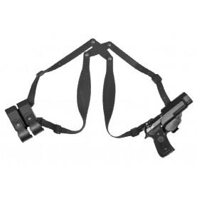 Holster d'épaule kydex + porte chargeur double Glock 17 19 Gaucher