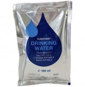 Pack de 5 sachets d'eau potable Survivor Drinking Water