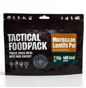 Tactical Foodpack Repas Outdoor Pot De Lentilles Marocain