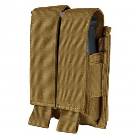 PORTE CHARGEURS PA DOUBLE COYOTE BROWN - CONDOR